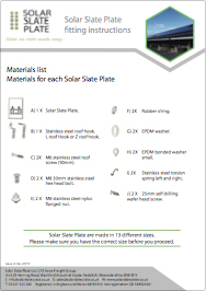Solar Slate Plate Instruction Manual